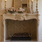 Louis XV reclaimed stone surround