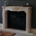 Louis XV stone fireplace - 2