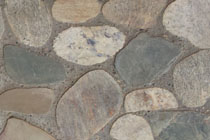 stone pebble paving floor earth colors