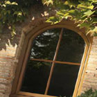 small arched window