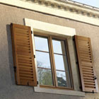 traditional windows double glazed with shutters