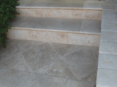 Hard Burgundy Limestone stoneworks and floors