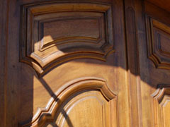 Double Entrance Door French Walnut