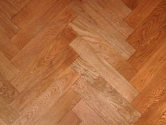 traditional Tongue & Groove herringbone parquet