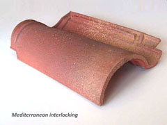 Mediterranean interlocking curved roof tile