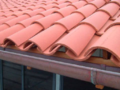 plain red canl tiles on the Gold Coast